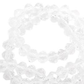 Facet kralen top quality disc 4x3 mm crystal 57541 Per 10 St.