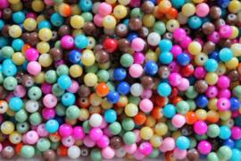 Glaskralen Summer Mix 6 mm 10 st
