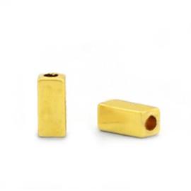 Kralen van hematite tube Gold 5 st 68751