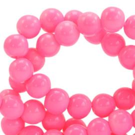Glaskralen 4 mm opaque Azalea pink 66353  40 st.