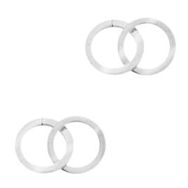 Bedels van Stainless steel Roestvrij staal (RVS) tussenstuk double circle Zilver 70101