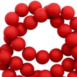 6 mm kralen van acryl matt Ruby red 12 gram (ca. 100 st.) 56660