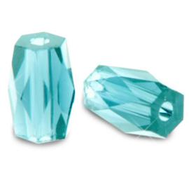 Top quality facet kralen tube Aquamarine blue 69815 10 st.
