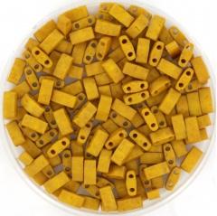 Miyuki half tila 5x2.3 mm - opaque matte mustard 2312