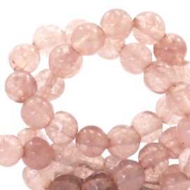 4 mm kralen natuursteen rond Jade Light taupe brown 49563 25 st.