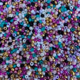 Rocailles Beauty mix 3 mm, 10 gram