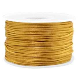 Macramé draad satijn 1.5mm Golden brown 1 meter 58760