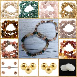 DIY Sieradenpakket Natuursteen Gold Luxe