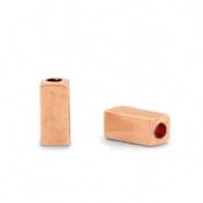 Kralen van hematite tube Rosegoud 5 st 68750