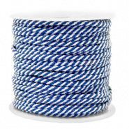 Maritiem koord Blue White 2 mm per meter