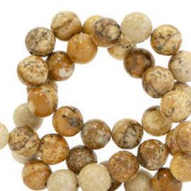 6 mm kralen natuursteen Tan brown 66102 10 st.