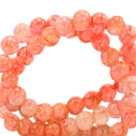 Glaskralen 6 mm gemêleerd Salmon orange 67382 50 st.
