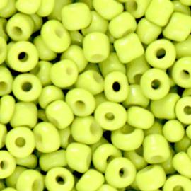 Rocailles 6/0 (4mm) Neon yellow 10 gram 72358