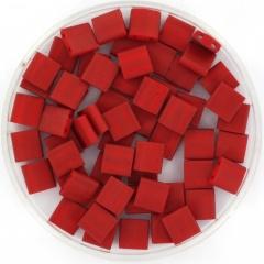 Miyuki tila 5x5 mm - metallic matte brick red 2040
