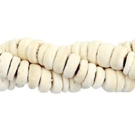 50 st Disc kokos kralen 8mm White (natuurlijke kleur van kokos)  54357