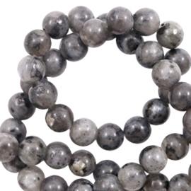 6 mm kralen natuursteen Dark anthracite  58889 10 st