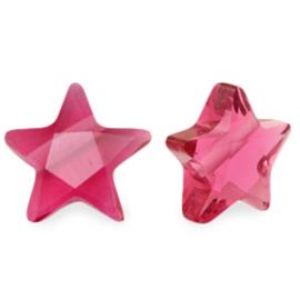 Facet fashion kralen ster Fuchsia pink