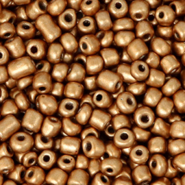 Rocailles, 3mm 8/0, Rosegold metallic 64708