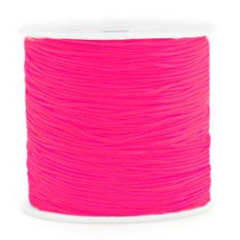 Macramé draad 0,8mm Neon Azalea Pink  67447 Per meter