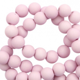 6 mm kralen van acryl matt Lavender pink 56669  12 gram (ca. 100 st.)