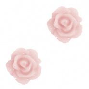 Roosje kralen 10 mm Vintage Roze per 4 stuks