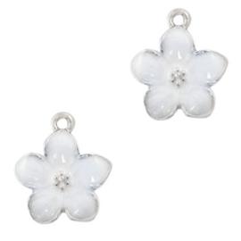Bedel Flower Zilver-Wit 71653