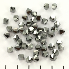 Preciosa bicone 4 mm - crystal labrador full 10 st.