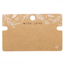 Kaartjes voor sieraden 'with love' 62171