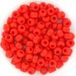 Miyuki kralen 4mm 6/0 - opaque Vermillion red