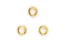 Montage ringetje 4 mm goud 20 stuks