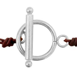 Kapittel slot zilver Stainless steel 16 mm