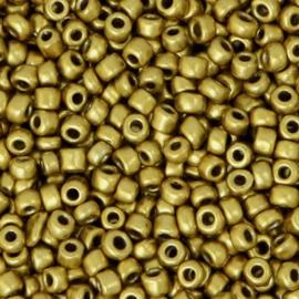 Rocailles 8/0 (3mm) Metallic antique gold 10 gram