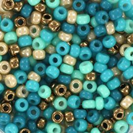 Miyuki rocailles 8/0 - blue beach mix31 8 gram