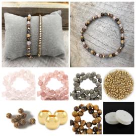 DIY Sieradenpakket Natuursteen Gold