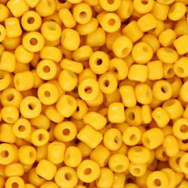 Rocailles 8/0 (3mm) Warm yellow, 10 gram 66180