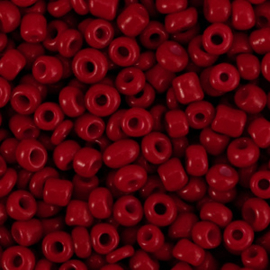 Rocailles 8/0 (3mm) Tangerine tango red, 10 gram 66172