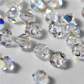Preciosa Kristal bicone 3 mm - chrystal   10 st.