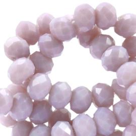 Facet kralen top quality disc 8x6 mm Lavender mist opal 41870 10 st.