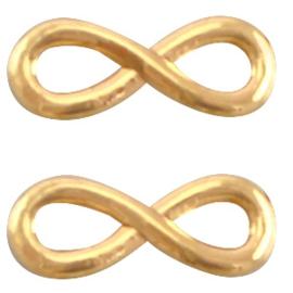 Bedel DQ metaal infinity 15 mm Goud (nikkelvrij)