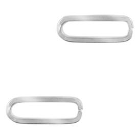 Roestvrij staal (RVS) tussenstuk oval Zilver 71254 per st.