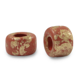Grieks keramiek DQ gold spot 9mm Brick red per stuk