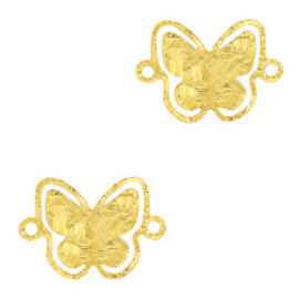 Bohemian tussenstuk butterfly Gold 71246 per stuk