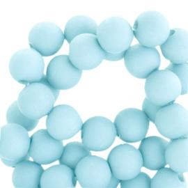 6 mm kralen van acryl Matt Sky Blue 59981 (12 gram) ca. 100 stuks