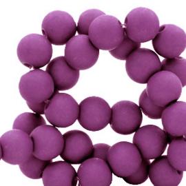 6 mm kralen van acryl Deep lavender purple 66764 12 gram (ca.100 st.)
