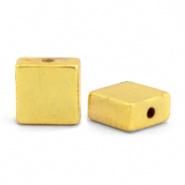 Kralen van hematite flat square Gold 68734 4 x 2 mm 10 st