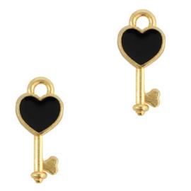 DQ bedel key Goud-zwart (nikkelvrij) per stuk