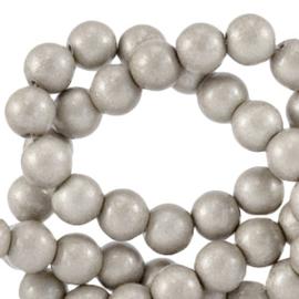 Glaskralen 4 mm opaque Paloma grey metallic 64826 40 st.