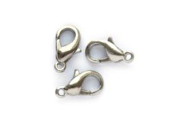 Karabijn sluiting zilver 12 mm  5 stuks