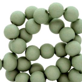 6 mm kralen van acryl Basil green 66748 12 gram (ca.100 st.)