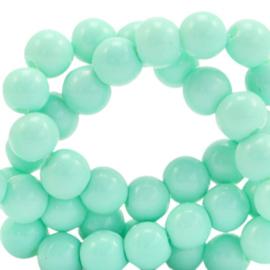 Glaskralen 4 mm opaque Mint turquoise 66341 40 st.